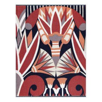 Modelo decorativo tarjetas postales