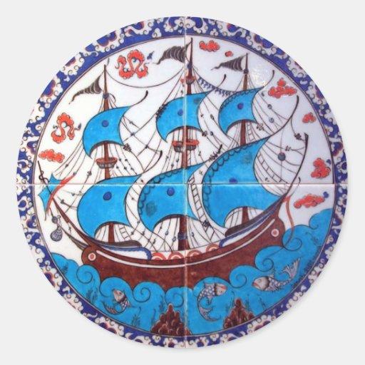 Modelo del acorazado/arte de la teja pegatina