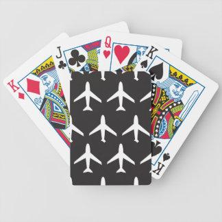 Modelo del aeroplano baraja cartas de poker