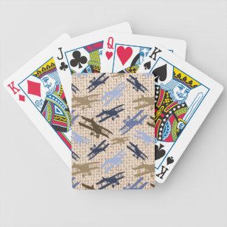 Modelo del aeroplano de la impresión de la arpille baraja de cartas