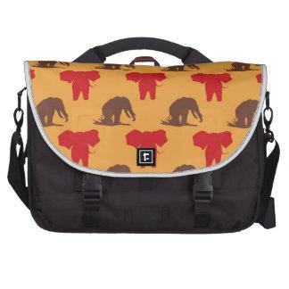 Modelo del africano de los elefantes bolsas para ordenador