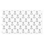 Modelo del ajedrez en blanco y negro plantillas de tarjetas personales