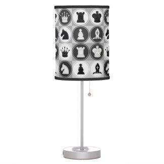 Modelo del ajedrez lámpara de escritorio