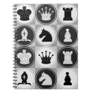 Modelo del ajedrez libro de apuntes con espiral