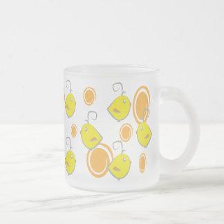 modelo del amarillo del pájaro de bebé taza de café esmerilada