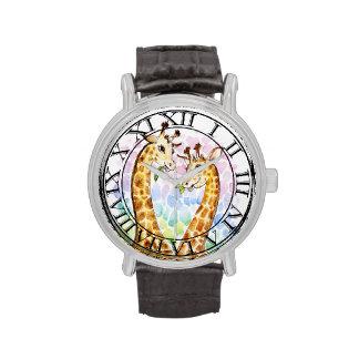 Modelo del amor de las jirafas reloj
