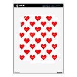 Modelo del amor del corazón pegatinas skins para iPad 3