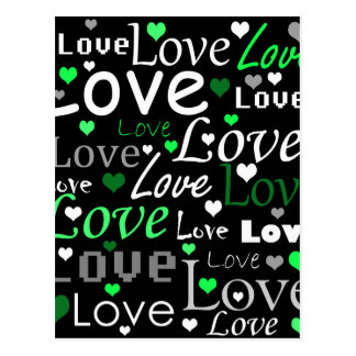 Modelo del amor - verde postales