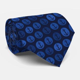 Modelo del ancla de los azules marinos corbata personalizada