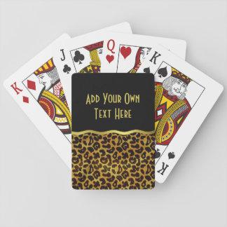 Modelo del animal de la impresión de la piel del cartas de póquer