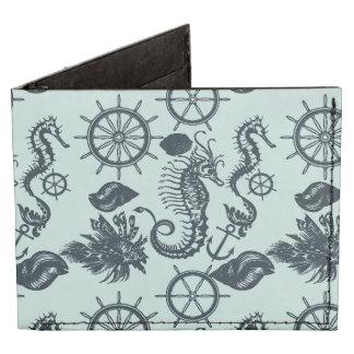 Modelo del animal de mar del vintage billeteras tyvek®