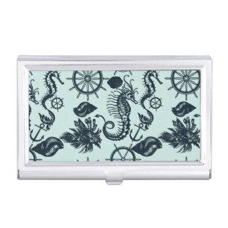 Modelo del animal de mar del vintage cajas de tarjetas de presentación