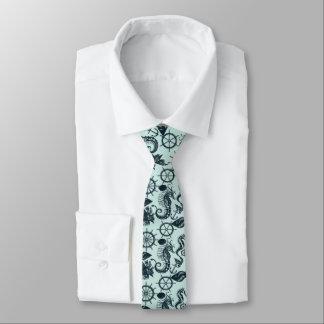 Modelo del animal de mar del vintage corbata fina