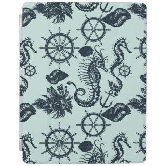 Modelo del animal de mar del vintage cubierta de iPad