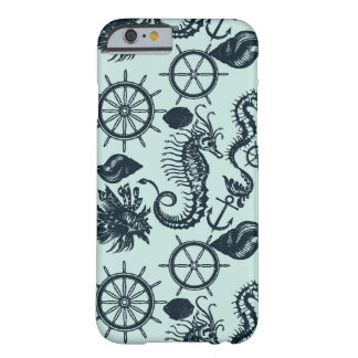 Modelo del animal de mar del vintage funda barely there iPhone 6