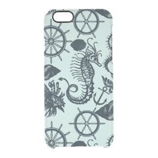 Modelo del animal de mar del vintage funda clear para iPhone 6/6S