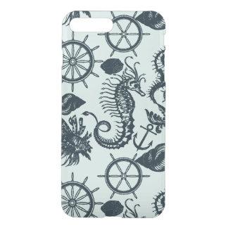 Modelo del animal de mar del vintage fundas para iPhone 7 plus