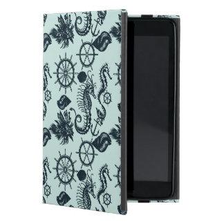 Modelo del animal de mar del vintage iPad mini carcasa