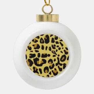 Modelo del animal salvaje adorno de cerámica en forma de bola