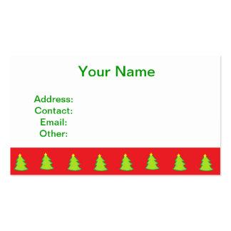 Modelo del árbol de navidad tarjetas de visita