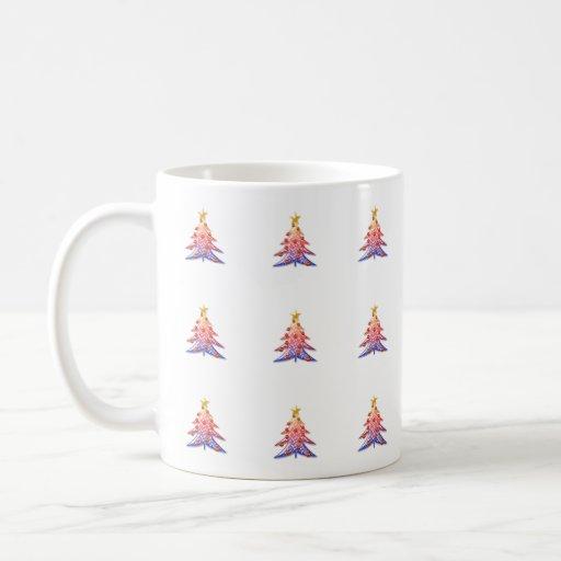 Modelo del árbol de navidad - taza