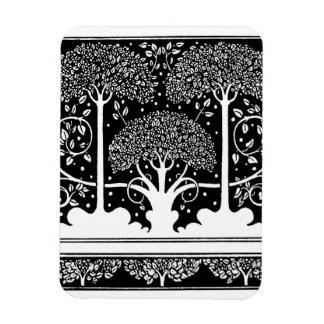 Modelo del árbol del vintage de Nouveau del arte Iman De Vinilo