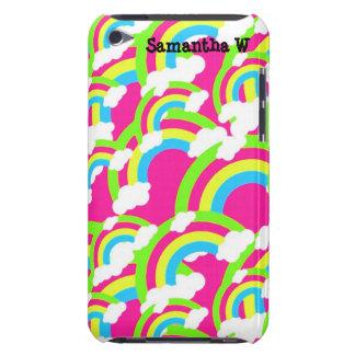 Modelo del arco iris de las rosas fuertes iPod touch protectores