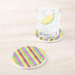 Modelo del arco iris del brillo posavasos para bebidas
