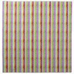 Modelo del arco iris del brillo servilletas imprimidas