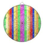 Modelo del arco iris del brillo tablero de dardos