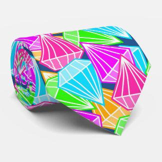 Modelo del arco iris del diamante corbata personalizada