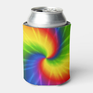 Modelo del arco iris del teñido anudado enfriador de latas
