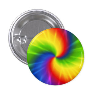 Modelo del arco iris del teñido anudado pin redondo de 1 pulgada
