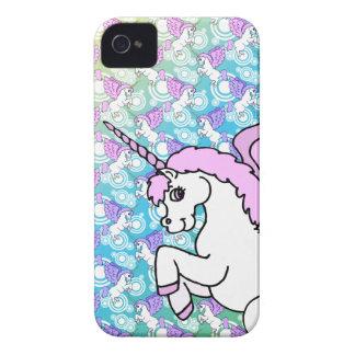 Modelo del arco iris del unicornio iPhone 4 Case-Mate cobertura