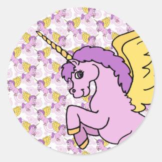 Modelo del arco iris del unicornio etiqueta