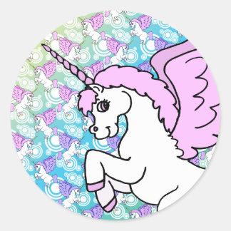 Modelo del arco iris del unicornio pegatinas