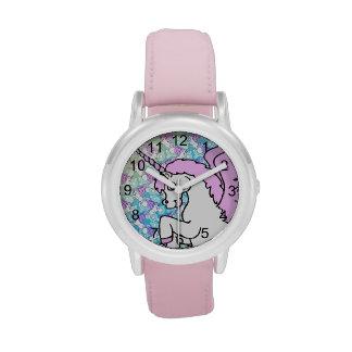 Modelo del arco iris del unicornio reloj de mano