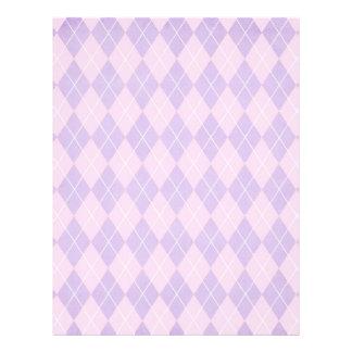 """modelo del argyle del rosa y de la lavanda folleto 8.5"""" x 11"""""""