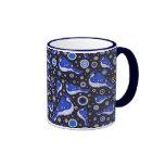 Modelo del arrendajo azul tazas de café