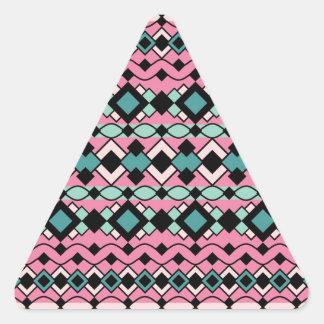 Modelo del art déco pegatina triangular