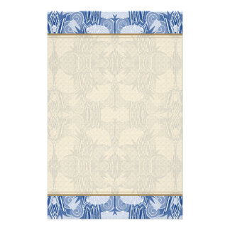 Modelo del art déco - sombras azules claras  papeleria