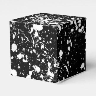 Modelo del arte de la salpicadura caja para regalos