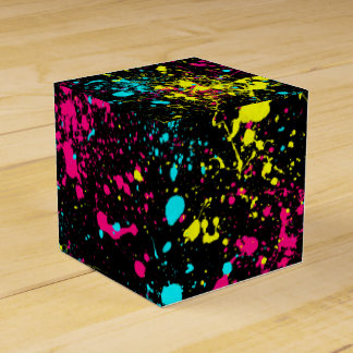 Modelo del arte de la salpicadura cajas para regalos