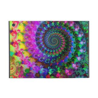 Modelo del arte del fractal del arco iris del hipp iPad mini cárcasas