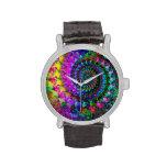 Modelo del arte del fractal del arco iris del relojes de mano