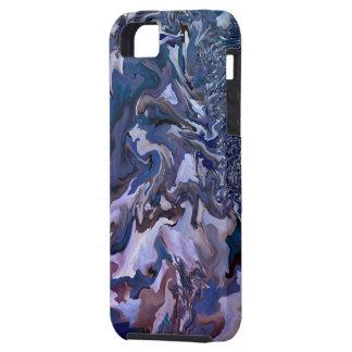 Modelo del arte del fractal que remolina - caso de iPhone 5 Case-Mate coberturas