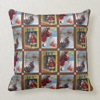 Modelo del arte del navidad del vintage almohada