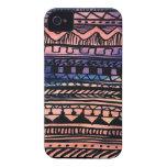 Modelo del Azteca de la puesta del sol iPhone 4 Fundas