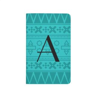 Modelo del Azteca de la turquesa del monograma Cuadernos