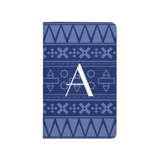 Modelo del Azteca de los azules marinos del monogr Cuadernos